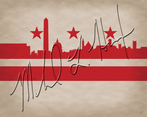 Washington D.C. City Skyline Minimalist Print by MichaelHurstArt, $10.00
