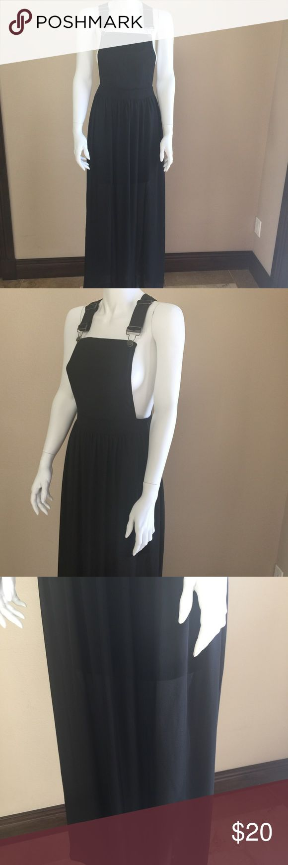 Sans souci anthropology dress Beneath is a half length attached skirt. This item is on sheer side long length and can fit a small/med overall dress Sans Souci Dresses Maxi