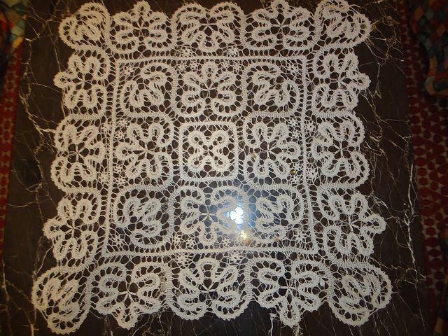 Bruges lace crochet doily by Hind kararah, via Flickr