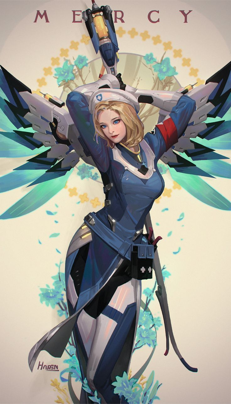 ArtStation - Mercy (Combat Medic Ziegler) Overwatch, HAREN (Kim Han seul) - More at https://pinterest.com/supergirlsart #fanart