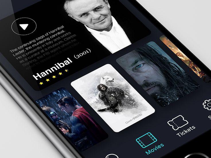 Movie/Cinema UI Inspiration — Muzli -Design Inspiration