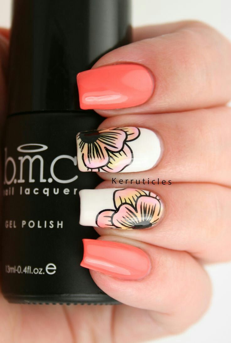 95 best flowered nails images on Pinterest | Fingernail designs ...
