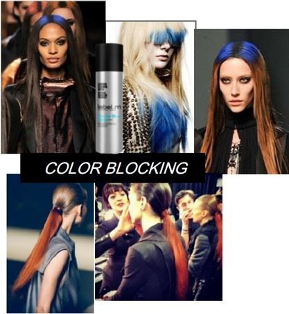 Color Blocking - A creative way to define key areas of a haircut or hair shape. The technique is created by pinpointing the areas in the hair to be enhanced #colorpop