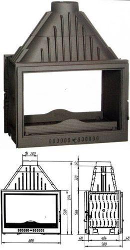 Double Sided wood burning stove Plasma Insert Contemporary wood/Log Burner | eBay