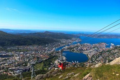 Ulriken Aerial tramway in Bergen, Norway
