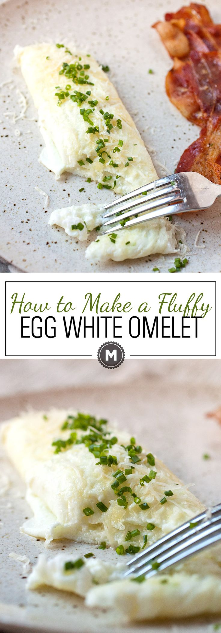 How to Make a Fluffy Egg White Omelet: Egg white omelets are a healthy and easy way to start the day! With a few little tricks, you can make a beautiful, fluffy omelet in minutes. Happy healthy breakfast! | macheesmo.com