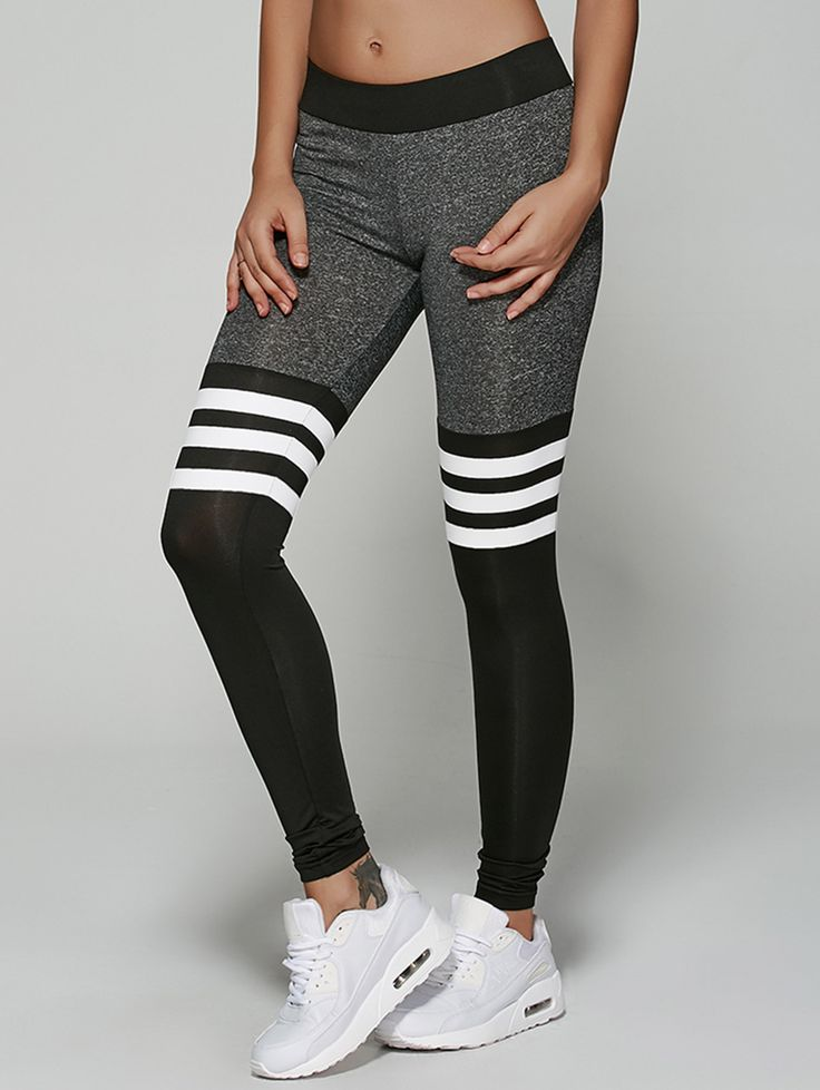 Striped Workout Capris Breeze Clothing