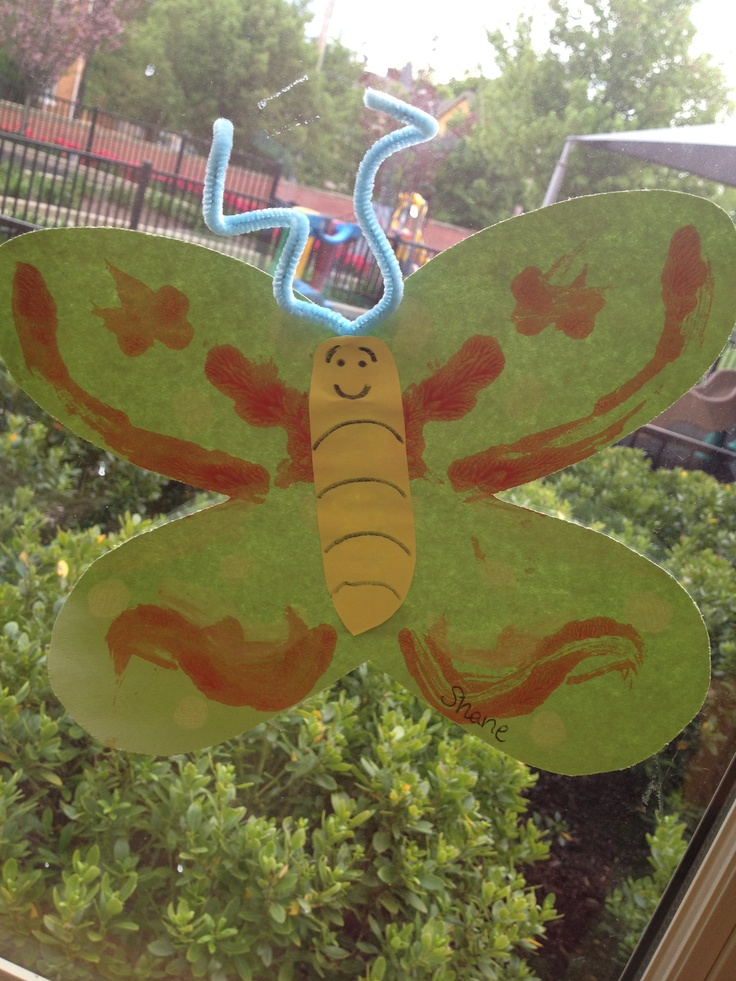 Butterfly symmetry! This craft was great for my pre-school students during our nature unit.
