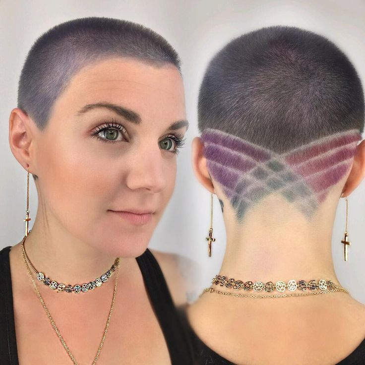 See tips to get this Silver Buzz Cut with Pastel Colored Shave Art and Lines and other short eccentric hairstyles and pixie cuts at Hairstyleology.com