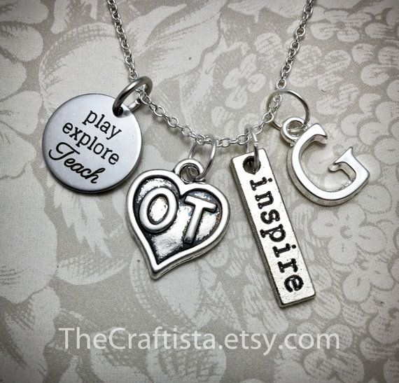 OT Necklace Occupational Therapy Necklace OT Charm