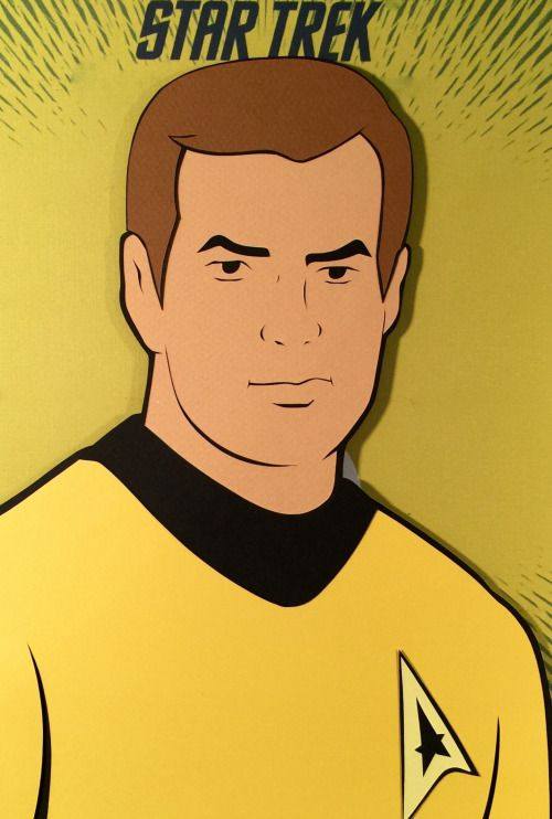 Star Trek The Animated Series: James T. Kirk Paper Cut-Out - DocGold13