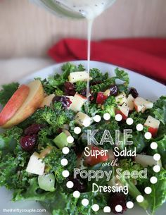 Kale is a great super food but it can be hard to find recipes for kale and kale salad ideas. This is an easy, affordable, super foods salad recipe.