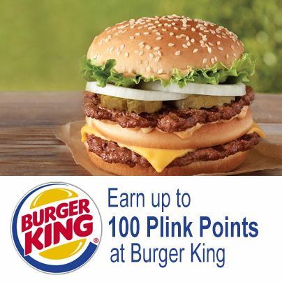 "Stock up on your favorites from Burger King's ""King Deals"" menu and earn up to 100 Plink points with your qualified purchase. Plus, now through April 27th, get 25% MORE POINTS with each qualified purchase. See what's on the menu: http://www.bk.com/en/us/menu-nutrition/lunch-and-dinner-menu-202/king-deals-value-menu-225/index.html"