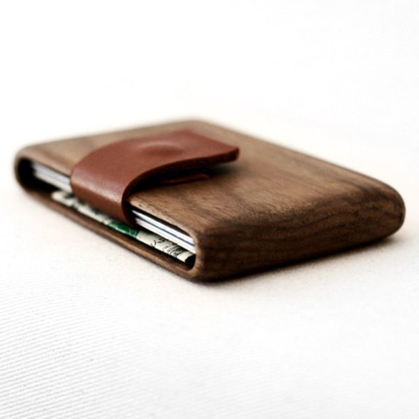 An exquisite handmade wallet out of premium wood.