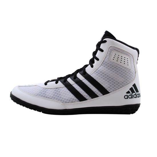 adidas wrestling boots black&white stripe