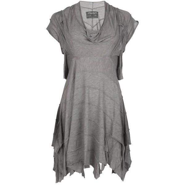 Dore Dress ($140) ❤ liked on Polyvore featuring dresses, vestidos, tops, short dresses, women, sleeveless dress, sleeveless cocktail dress, mini dress, cowl neck mini dress and allsaints