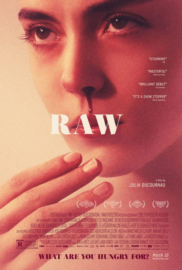 Raw (2016). Couldn't find any stills to this but I can't wait to see it. Have been dying to. There's no release date for Canada yet but I'm hoping to rent it or buy it when it comes out. Female filmmakers FTW!