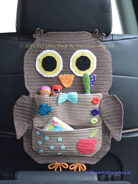 Ravelry: Owl Treasure Organiser pattern by Tatsiana Matsiuk  ****love this