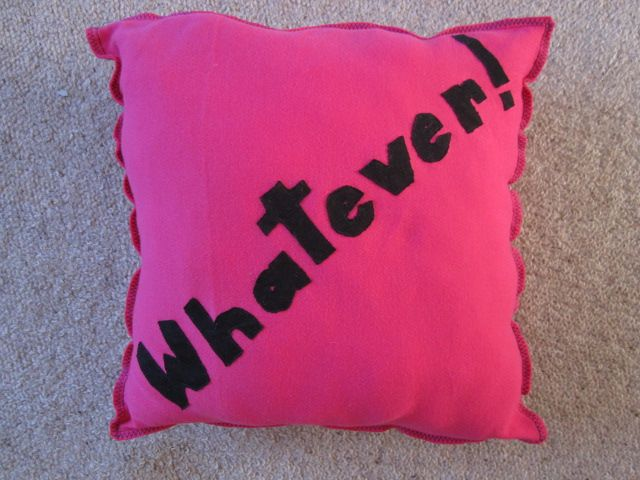 Personalised Cushions with whatever slogan you want on it!