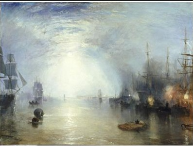 Turner. The Tate Gallery. So many wonderful Turner paintings there. Joseph Mallord William Turner - light, beautiful light, and anticipations of everything Impressionism codified.