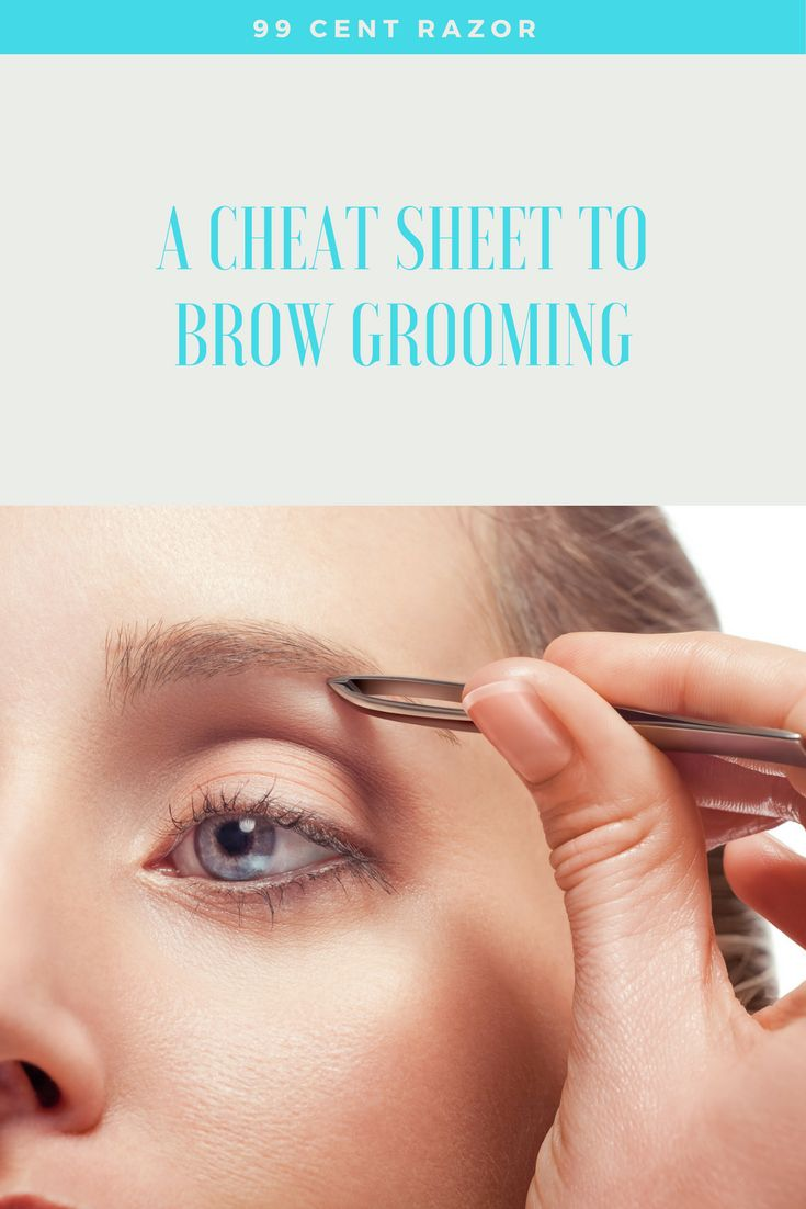 A Cheat Sheet to Brow Grooming   www.99centrazor.com   99 Cent Razor   Beauty Tips   Brow Shapes   Shave Club