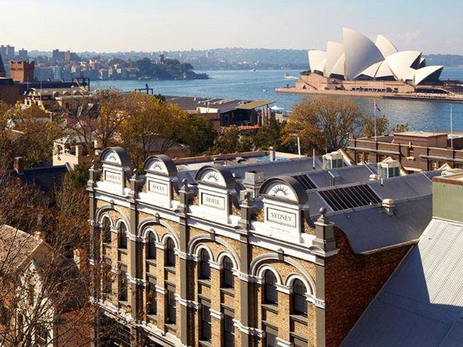 The Harbour Rocks Hotel in Sydney has been refurbished, harking back to the original architectural features. The boutique hotel has a prime location in the Rocks precinct. Picture: Harbour Rocks Hotel. #Sydney #Australia