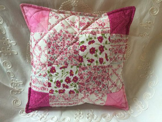 All the pinks pretty patchwork quilted cotton by MadramCrafts