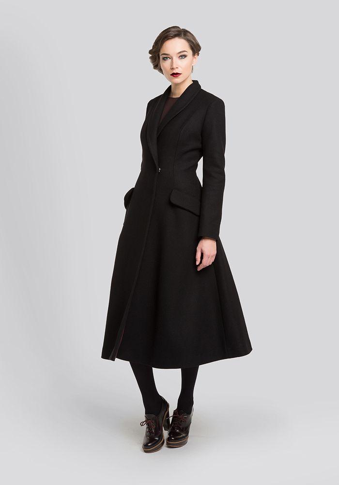 ginger черное пальто