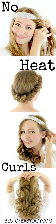 Get gorgeous curls no heat curls with the Savvy Curls hair wrap. It is an amazing time saver and keeps your hair healthy! #healthyhair #heatlesscurls #savvycurls