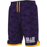 Short de basket Adidas Los Angeles Lakers Violet
