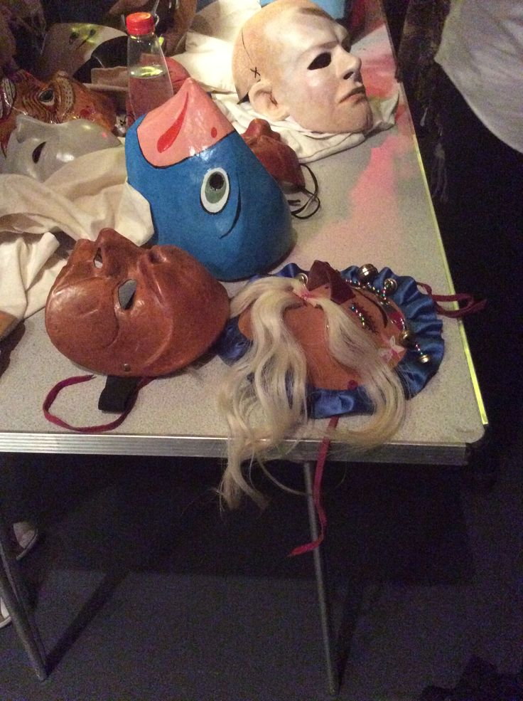 Masks made by the NTU lecturer - Stephen Jon