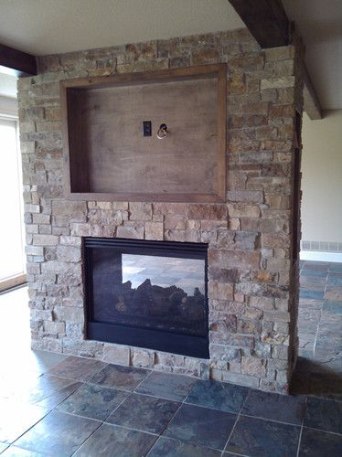 see through fireplace for dining/living room plus tv mounted above fireplace  (concern - where to put receiver)