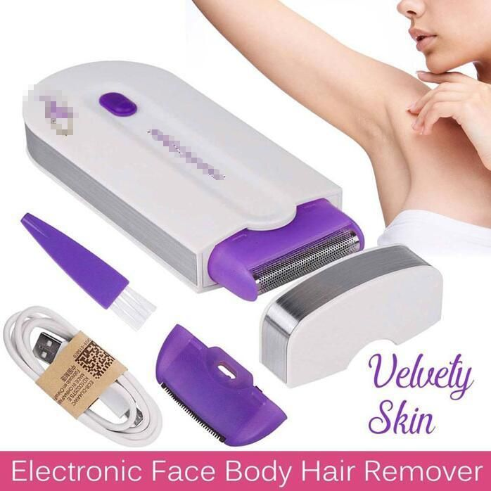 Feature: Instant, pain-free hair remover that's safe and gentle on the most sensitive skin Ideal for facial hair and perfect for bikini, belly, arms and under arms, hard to reach areas on legs, and it's safe on all skin types and colors Micro-oscillation technology sweeps away unwanted hair in one step, without pain or