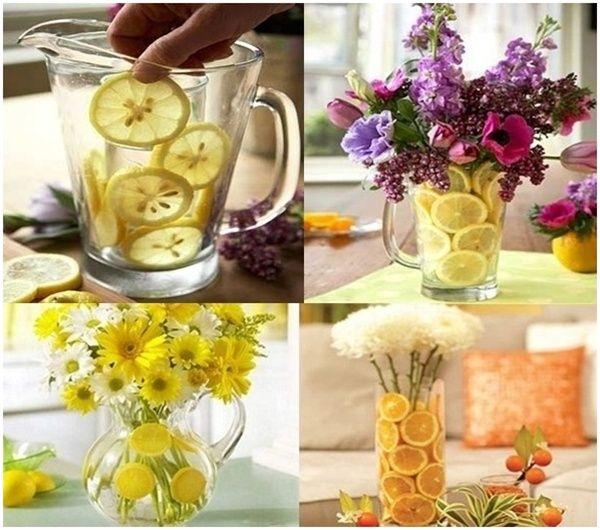 Make a Beauteous Citrus Fruits and Floral Centrepiece  - http://www.amazinginteriordesign.com/make-a-beauteous-citrus-fruits-and-floral-centrepiece/