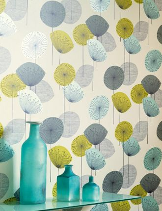 Dandelion Clocks wallpaper from Sanderson