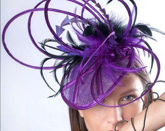 Lilac fascinator Derby fascinator hat purple hat Royal