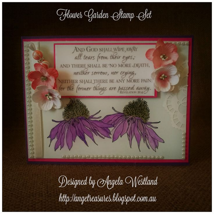 Click on the picture to see more of Angela's Projects #http://angetreasures.blogspot.com.au/ #wordartwednesdaychallengeblog #guestdesignermarch #flowers #flowergarden #zigbrushpens #aquapainter #watercoloring #sponging #lacedoilies