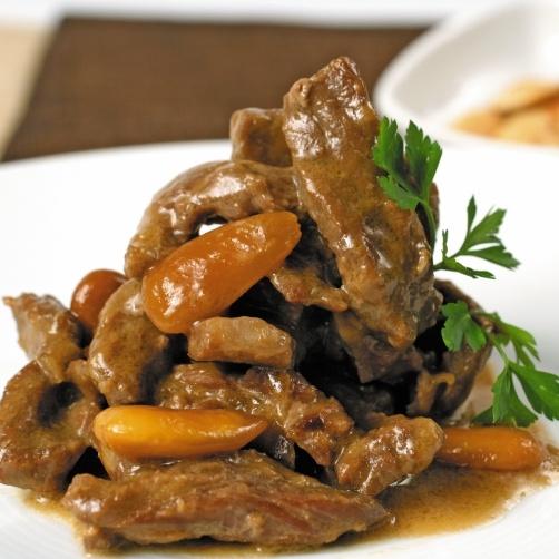 Una deliciosa receta deTernera con almendraspara #Mycookhttp://www.mycook.es/receta/ternera-con-almendras/