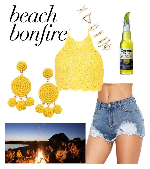 beach bonfire by chiara30stm on Polyvore featuring polyvore fashion style Boohoo Humble Chic Forever 21 clothing