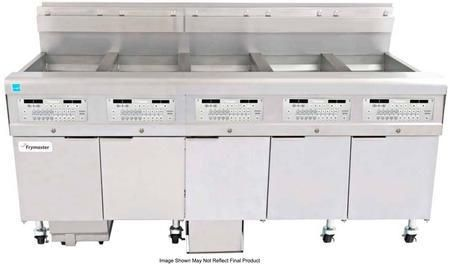 "FPGL530CA 79"" OCF30 Series Energy Star Commercial Gas Fryer with 375000 BTU 150 lbs Oil Capacity Smart4U 3000 Controller and Auto Top-Off in Stainless Steel"