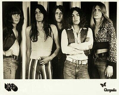 """UFO 1973 - w/ Michael Schenker! Larry Wallis was in for just under a year..they got signed, ready to record & he was too drunk after a show...Told Phil Moog what he thought of him..& w/ protest from other members was fired.  I love """"Phenomenon"""" but it woulda been awesome to hear a UFO recordings w/Wallis."""