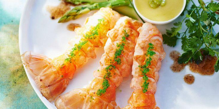 Langoustines ti des mayonnaise l g re au wasabi recette - Cuisine legere au quotidien ...
