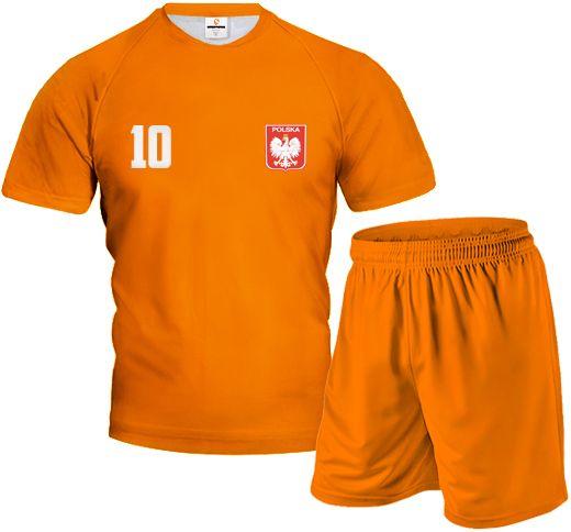 FULL COLOR Komplet Sportowy z Wlasnym Nadrukiem Pomarańczowy
