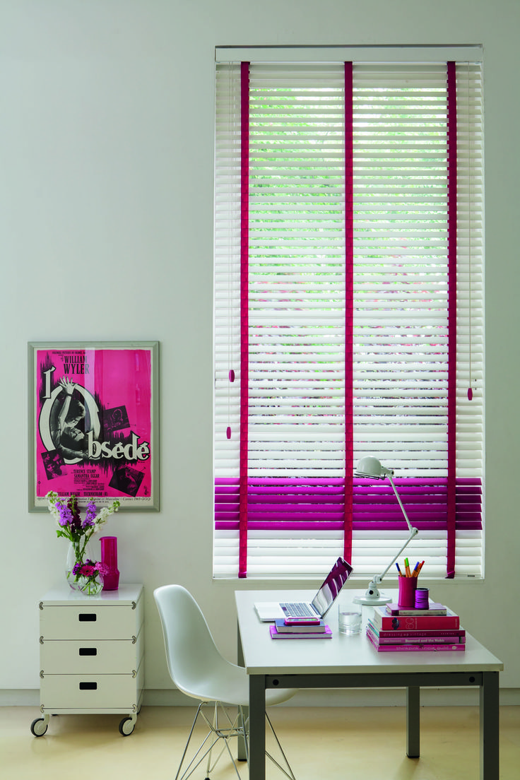 wooden blinds with FUN colours