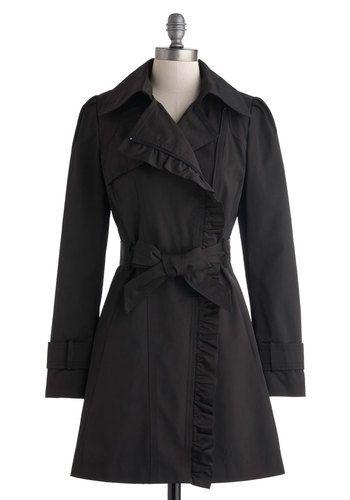 Metropolitan Miss Coat in Noir
