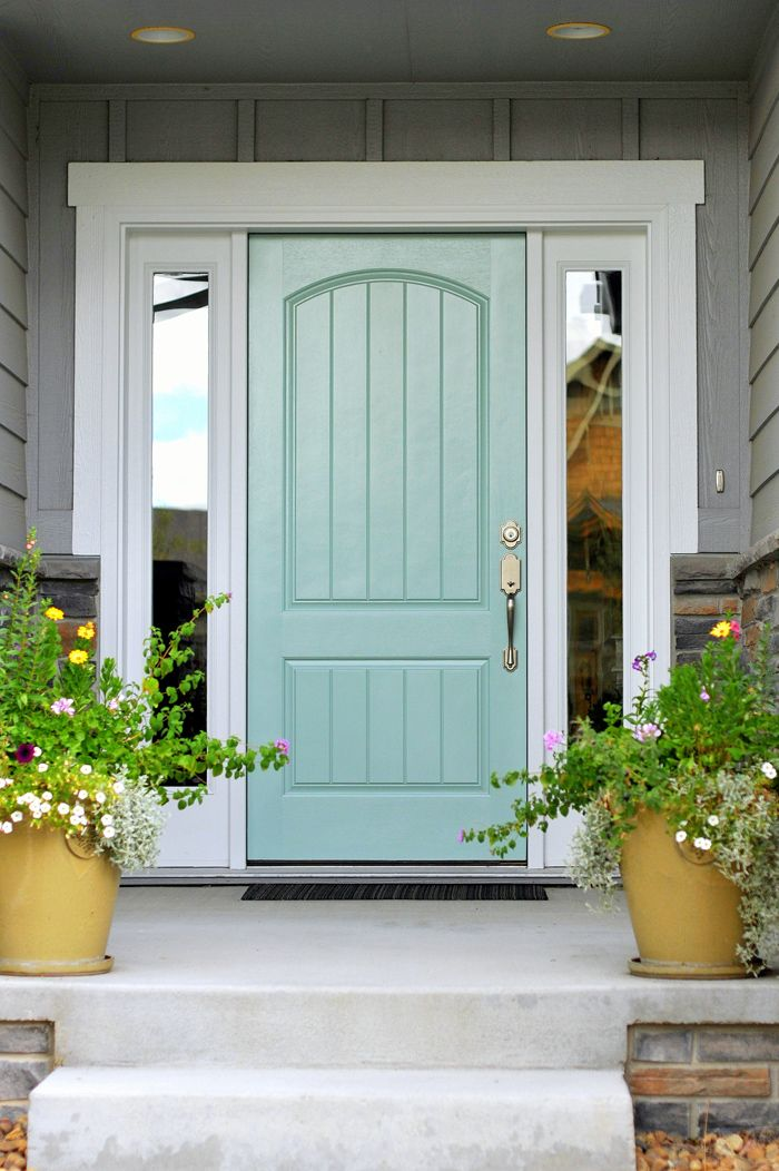 Home exterior colors & Best 25+ Mint door ideas on Pinterest | Mint paint colors Inside ... pezcame.com