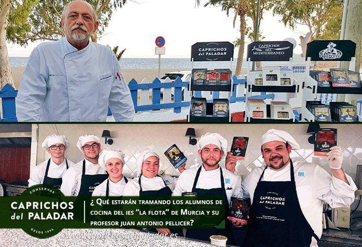 ¿qué estarán tramando los alumnos de cocina del IES la Flota con su profesor JA Pellicer para este verano con los vegetales gourmets de Caprichos del Paladar? ...