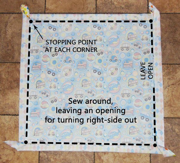An EASY TO FOLLOW tutorial on self binding baby blankets--as opposed to the other one that I tried and completely failed at.