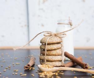 Sušenky s chia semínky a avokádem