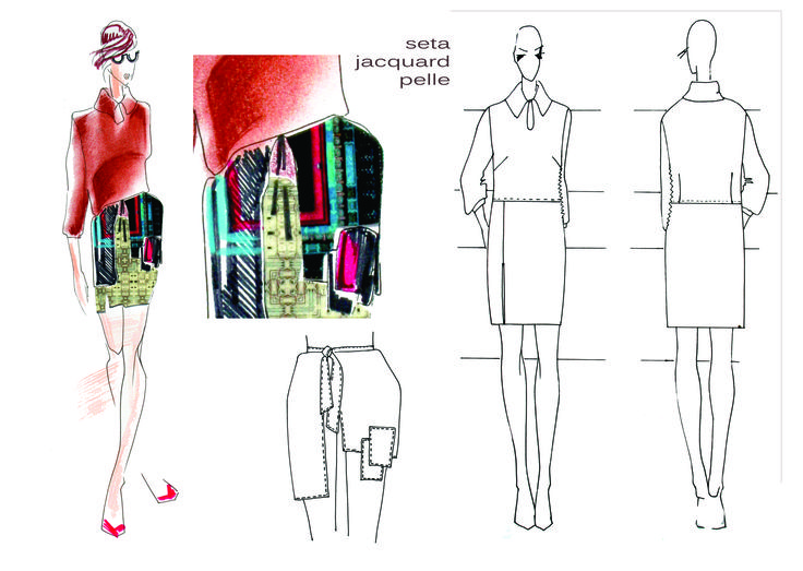 Technical  design Silk dress
